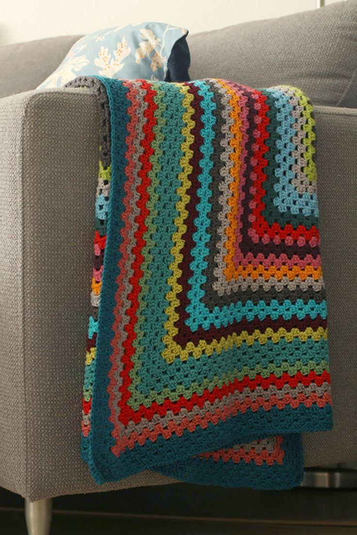 Lisette   Rectangle granny blanket