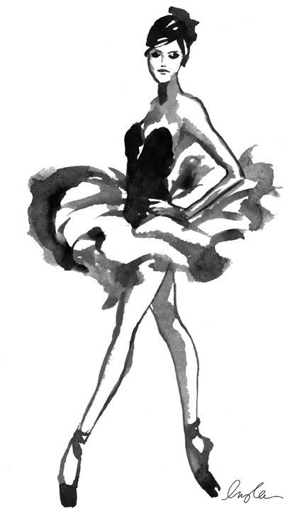 Illustrations and ballerinas are the best possible combination.
