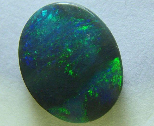 black opal stones   lightning ridge solid black opal stone 2.50 carats ana648- Chronicles possible ring stone.