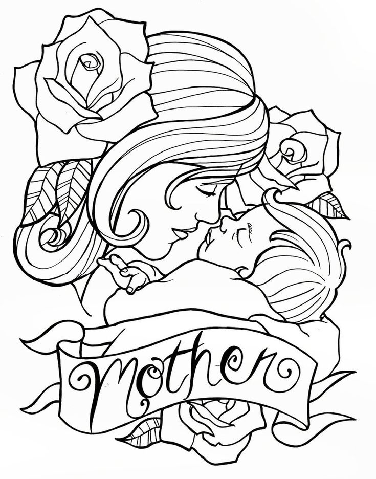 Living Room Line Drawing: Mother's Day Tattoo Design By