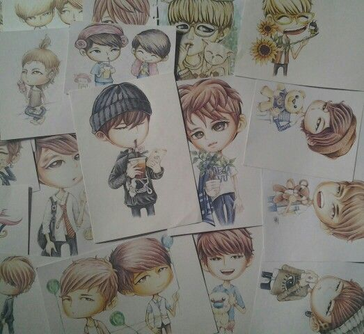 Collection traditional drawing fanArt INFINITE by pencil