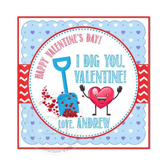 Valentine's 2.5 Printable Square Tags-Happy