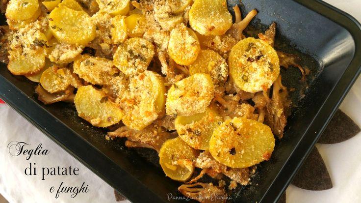 Teglia di patate e funghi gratinati