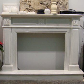 Fireplaces - Dionyssos Marble (patinated). Επενδύσεις Τζακιών - Μάρμαρο Διονύσου.