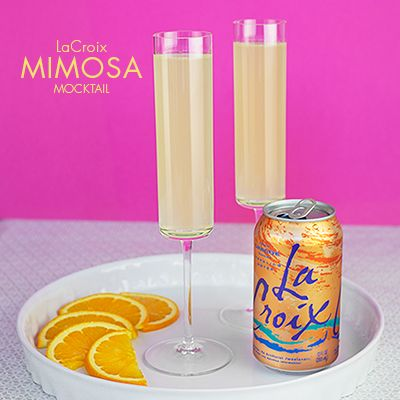 This is a great Mimosa Mocktail drink recipe to start any day! Try this recipe of fresh-squeezed orange and grapefruit juice and Orange LaCroix Sparkling Water.