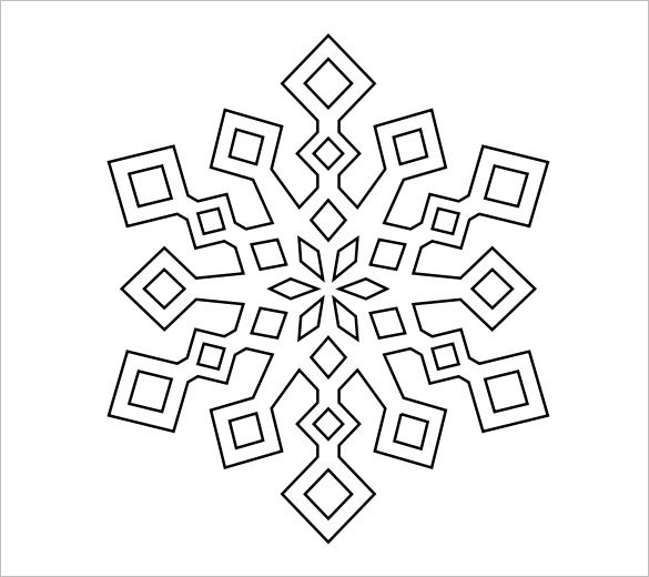 Best Snowflakes Images On   Snowflake Template
