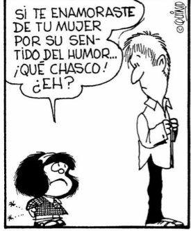 Joaquín Salvador Lavado - Quino - (1932) historietista argentino creador de Mafalda, publicada originalmente entre 1964 y 1973.