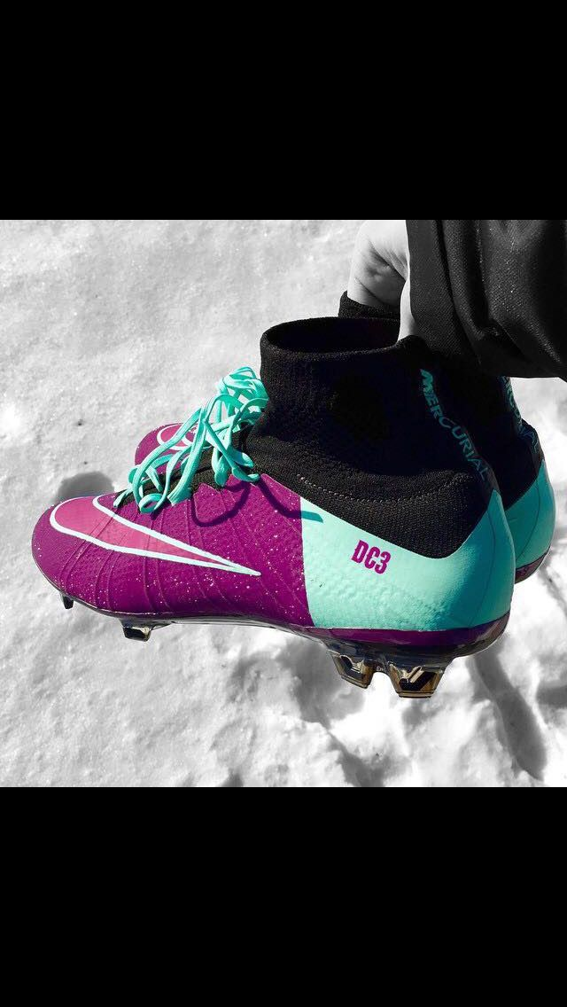 I would love to get these soccer cleats because again I love the color purple and I like how what colors the cleats have