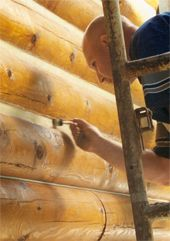 Log Home Restoration, Log Home Repairs, Finish for New Log Homes, Rotted Log Replacement Services,