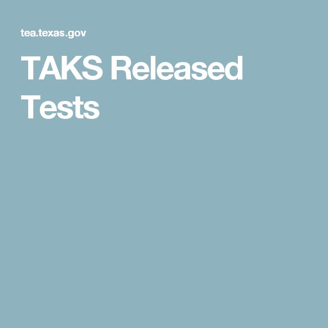 TAKS Released Tests