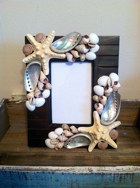 Beach Decor Seashell Picture Frame  Shell by ShellsUnlimited, $38.00