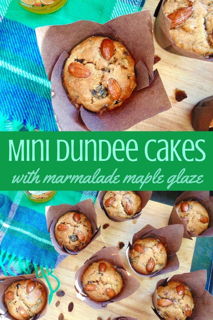 Mini Dundee Cake; light fluffy fruitcakes with a sticky sweet glaze, perfect for Burns Night or any Scottish celebration!