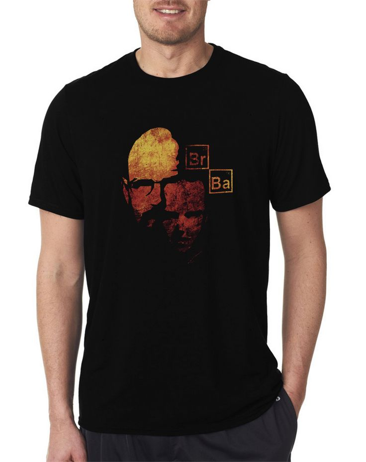 Br Ba Heisenberg Breaking Bad Walter White Men's T Shirt Size S-XXL