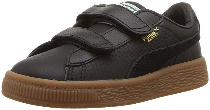 36b58b6ab95cac PUMA Kids  Basket Classic Gum Deluxe Velcro Sneaker Review