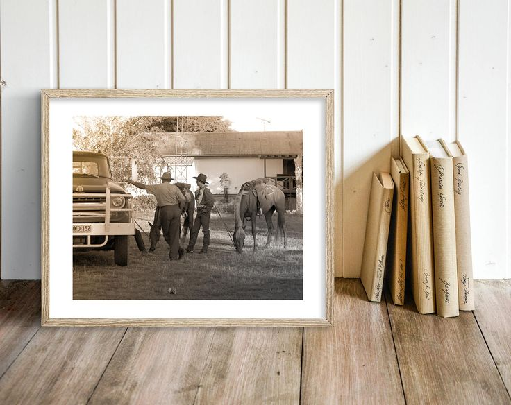 COWBOY UP > Photograph > Print > Digital Download Image > Horse - Old - Western - Country -Photo - Black & White - Art - Photography 8x10 A4 by DustyDiamonds on Etsy