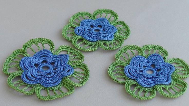 Как вязать ЦВЕТОК. Ирландское кружево. УРОК ВЯЗАНИЯ.How to crochet flowe...
