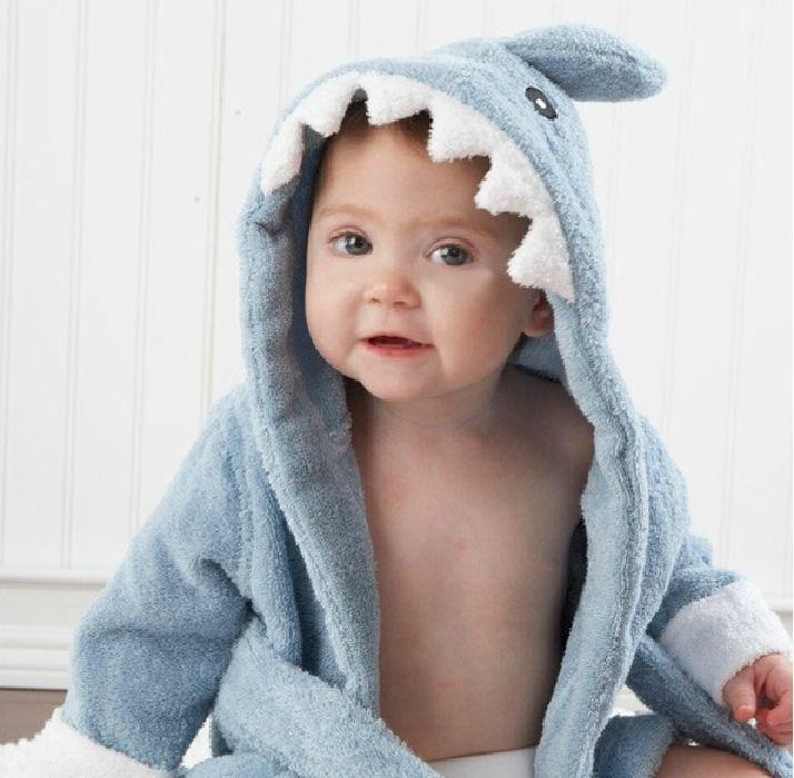 10 Dessins de Bande Dessinée Mignon Modélisation Animale Bébé Serviettes De Bain Bébé Peignoirs Peignoirs de Coton Enfants Bébé À Capuchon #