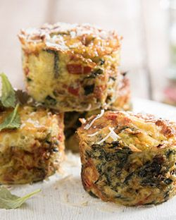 Snack: Parmesan and Spinach Mini Quiches
