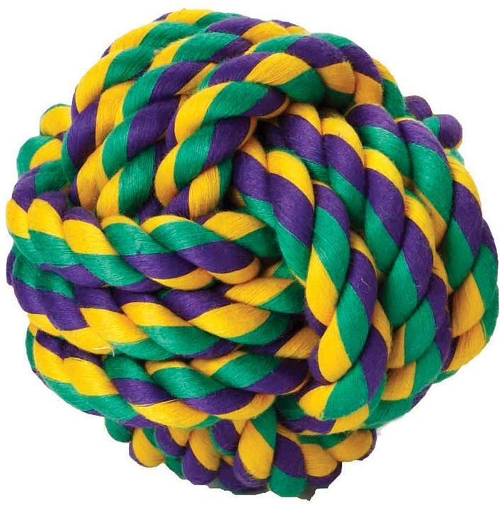 Multipet nuts for knots 2.5-in. rope ball dog toy