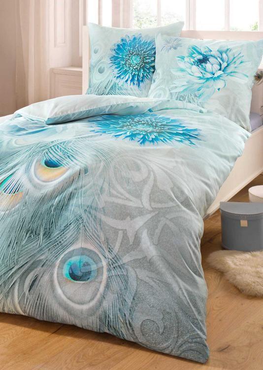 2-delt sengesett i mako-sateng asurblå - atelier gyldne snittet