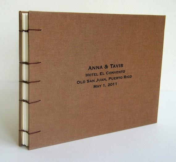 Custom hand bound Guest Book  8x8 or 6x8 by SteelPetalPress
