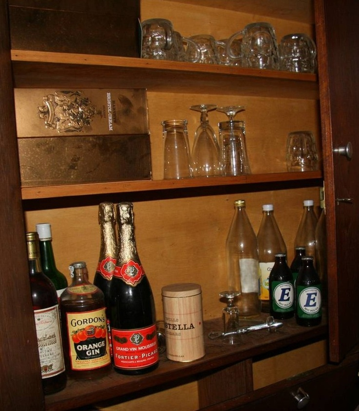 The Director's drinks cupboard in the office of Newman Brothers