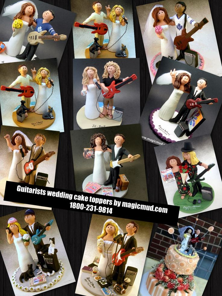 Rock Star Guitarist's wedding cake toppers by www.magicmud.com 1 800 231 9814 magicmud@magicmud... blog.magicmud.com twitter.com/... $235 #wedding #cake #toppers #custom #personalized #Groom #bride #anniversary #birthday #guitar #guitarist #rocknroll #rock-star #rock god # #weddingcaketoppers #cake-toppers #figurine #gift #wedding-cake-toppers http://custom-wedding-cake-toppers.tumblr.com/ http://instagram.com/weddingcaketoppers https://www.facebook.com/PersonalizedWeddingCakeToppers…