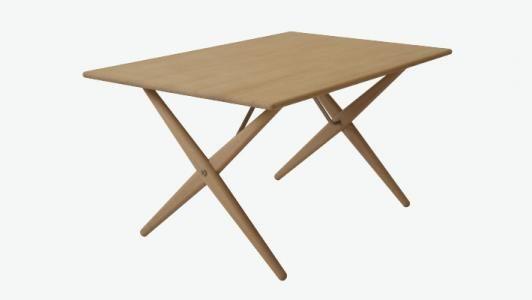 Beskrivelse:Hans J. Wegner tegnede dette sofabord under navnet AT 308 til Andreas Tuck, formentlig i midten af 1950´erne. Det er en mindre version af krydsbensbordet pp85, som blev tegnet omkring 1955 under navnet AT 303. PP Møbler har genoptaget produktionen af det lille krydsbens-sofabord i 2005, ca. 50 år efter at det blev tegnet. Bordet vidner om Wegners evne til at skabe et langtidsholdbart design.  Materiale: Massivt træ, enten sæbebehandlet, lakeret eller oliebehandlet  Billede og…