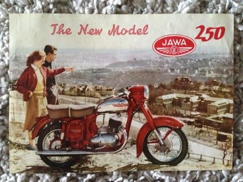 1950's circa Motokov Jawa CZ 250 technical data sheet  | eBay