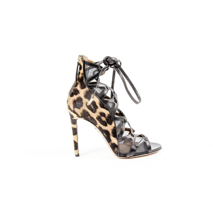 Aquazzura Firenze Womens Lace-Up Sandal FREHIGB0 CAV LEO