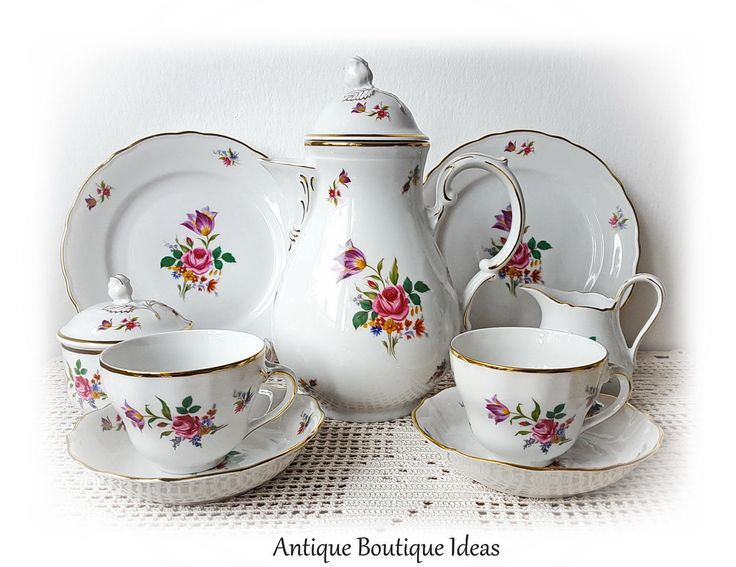 1918 - 1935 Vintage Tet-a-Tet Teapot Set Bavarian China Coffee Service German  sc 1 st  Pinterest & 126 best German Porcelain Bavarian China images on Pinterest ...