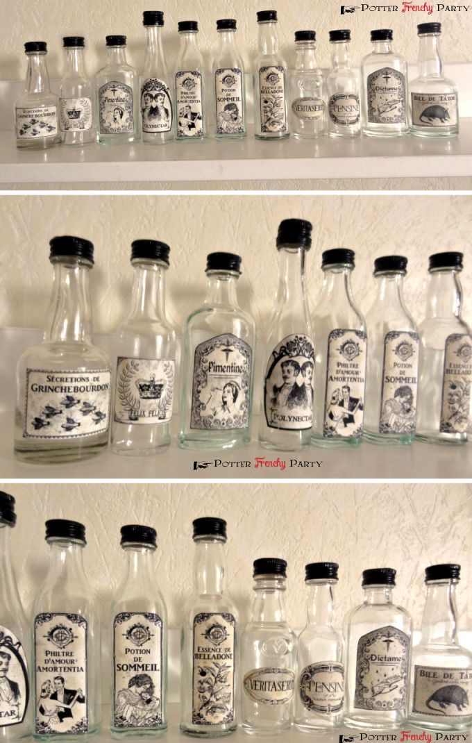 Potter Frenchy Party - potions - Halloween decoration - Harry Potter DIY - Poudlard - Hogwarts