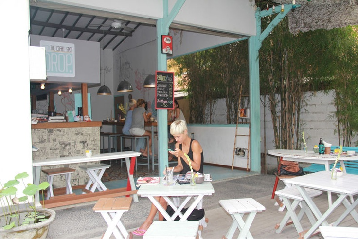 DROP, located in the Jalan Petitenget area in Seminyak. Cool atmosphere, casual decor, the relaxed vibe, the cool people, the free wi-fi and not to mention the super friendly staff.