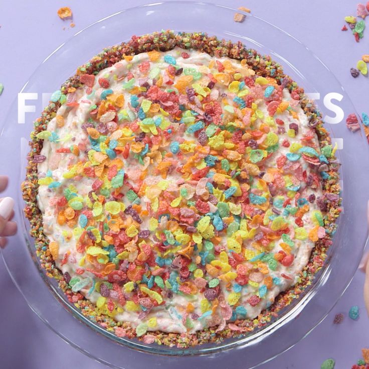 For every Fruity Pebbles-lover out there, this dessert has your name written all over it! Inspired by the Cereal Killer Pie from the Pie Hole in Los Angeles, we've taken one crazy treat and made it even better by taking the oven out of the equation. This is a decadent, delicious, and easy pie you can whip up in no time, especially on a blistering Summer day. Trust us, one bite and you'll be in cereal heaven.
