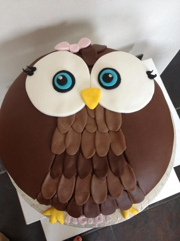 owl cake is so cute