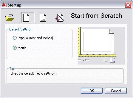 Old AutoCAD version has this Startup Dialog Box. It helps if you often need to use different units/template when creating your drawing.
