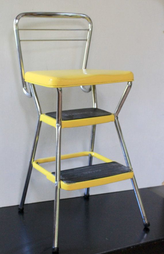 Vintage Yellow Cosco Step Stool Chair Pinterest Aunt