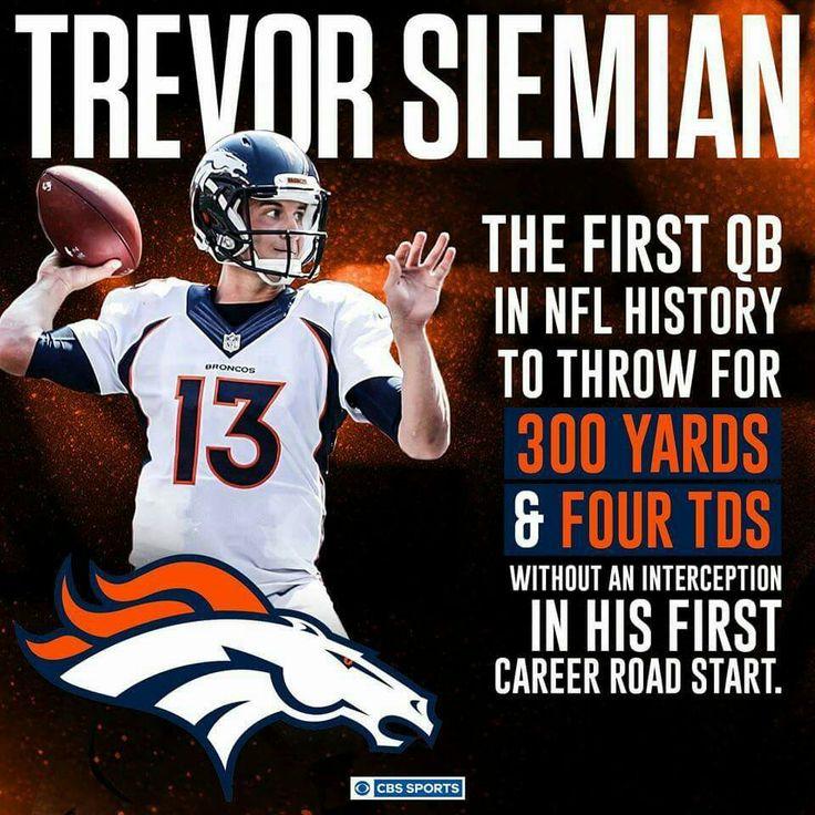 Trevor, Denver Broncos quarterback                                                                                                                                                                                 More