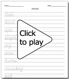 Cursive Writing Practice Worksheets Sentences - free printing and ...