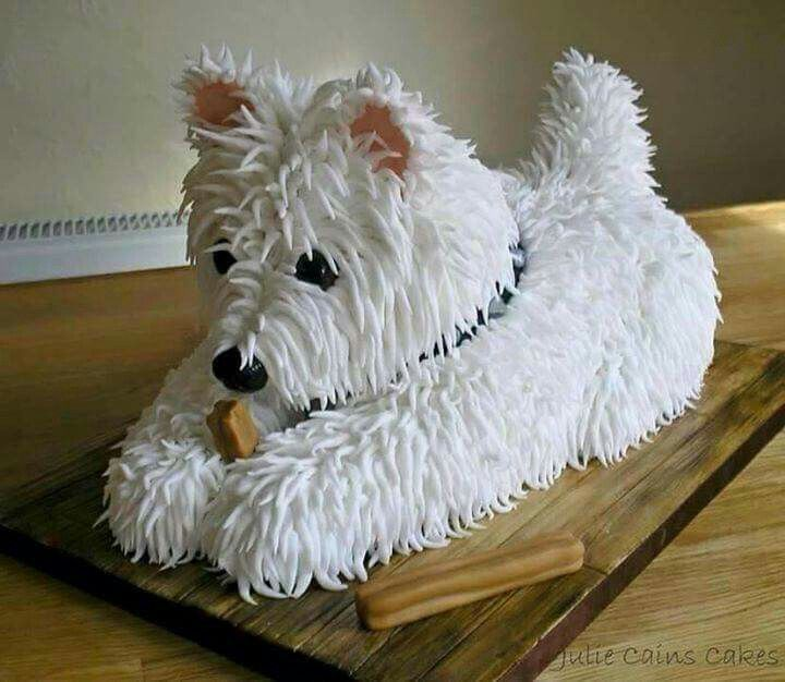 WESTIE DESIGN BIRTHDAY CAKE. SO CUTE