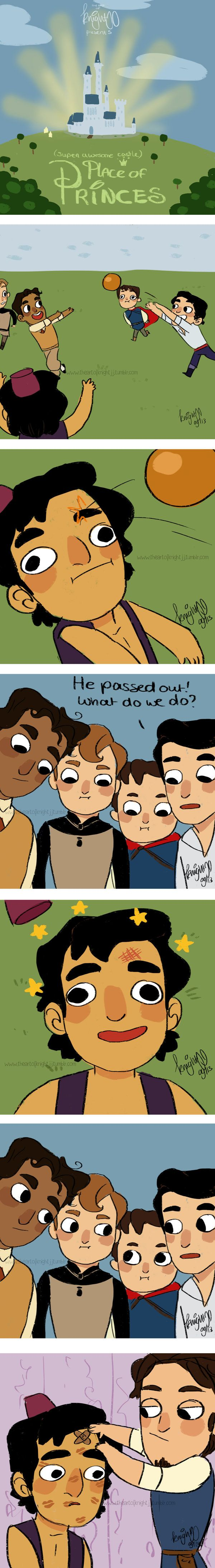 None of them would pass a first aid course except Eugene - Place of Princes: 7- knock out by knightJJ on deviantART