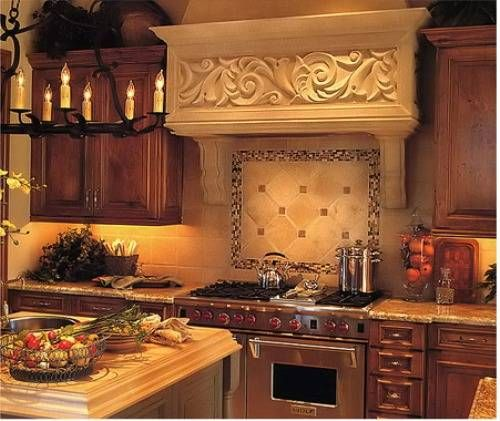 Country kitchen backsplash ideas pictures french country for Country kitchen wallpaper ideas