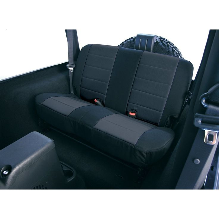 Fabric Rear Seat Covers Black By Rugged Ridge 80 95 Jeep