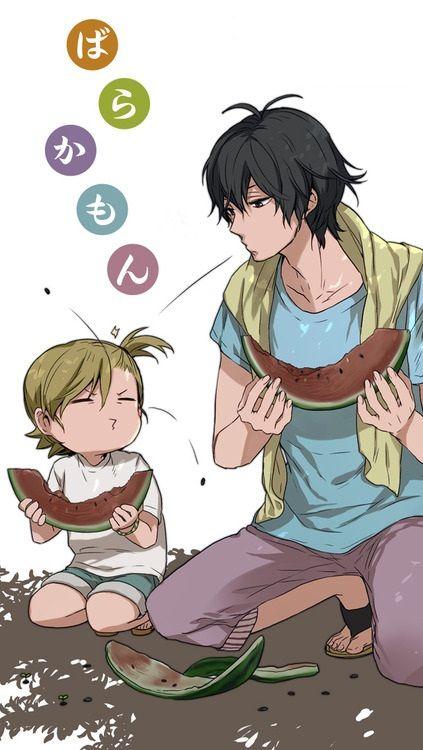 Barakamon | Seishuu Handa & Naru Kotoishi | Anime | Fanart | SailorMeowMeow