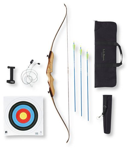 L.L.bean Family Archery Set $159.00. Includes everything you need to introduce your family to archery.