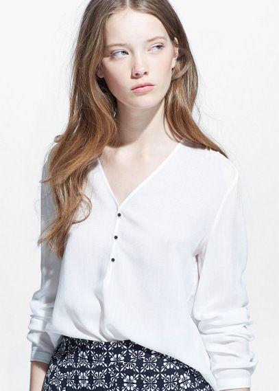 Camisa diseño bordado - Camisas de Mujer | OUTLET