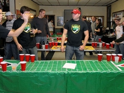 Beer pong tournament...it's not just a game for college kids anymore!