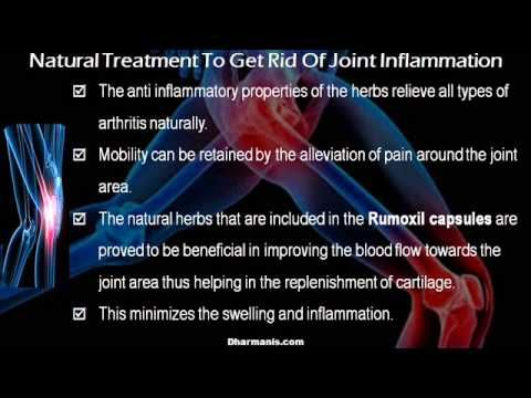 This video describes about how to get rid of joint inflammation with natural treatment. You can find more detail about Rumoxil capsules at http://www.dharmanis.com