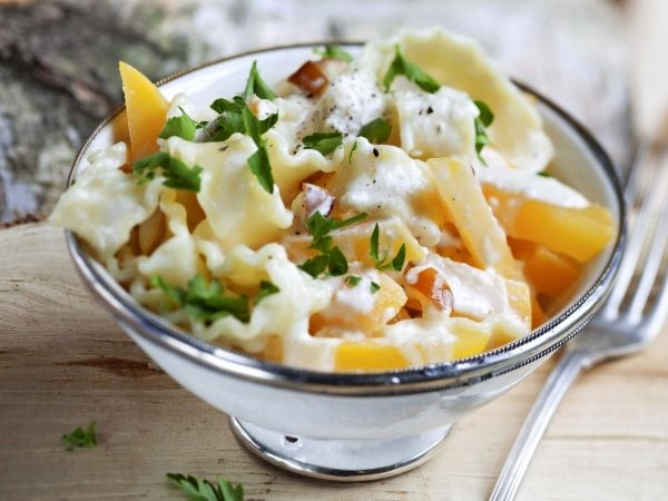 Pasta met boterraapjes en kaassaus - Libelle Lekker!