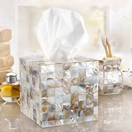 mother of pearl tissue box holder - Google Search